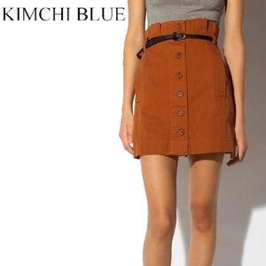 ⛱Kimchi Blue Button-Front Paperbag Skirt